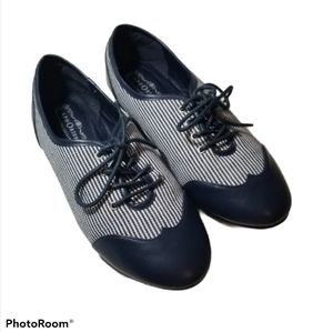 "{Aphorism} ""Chatham"" Navy Blue Striped Shoes"